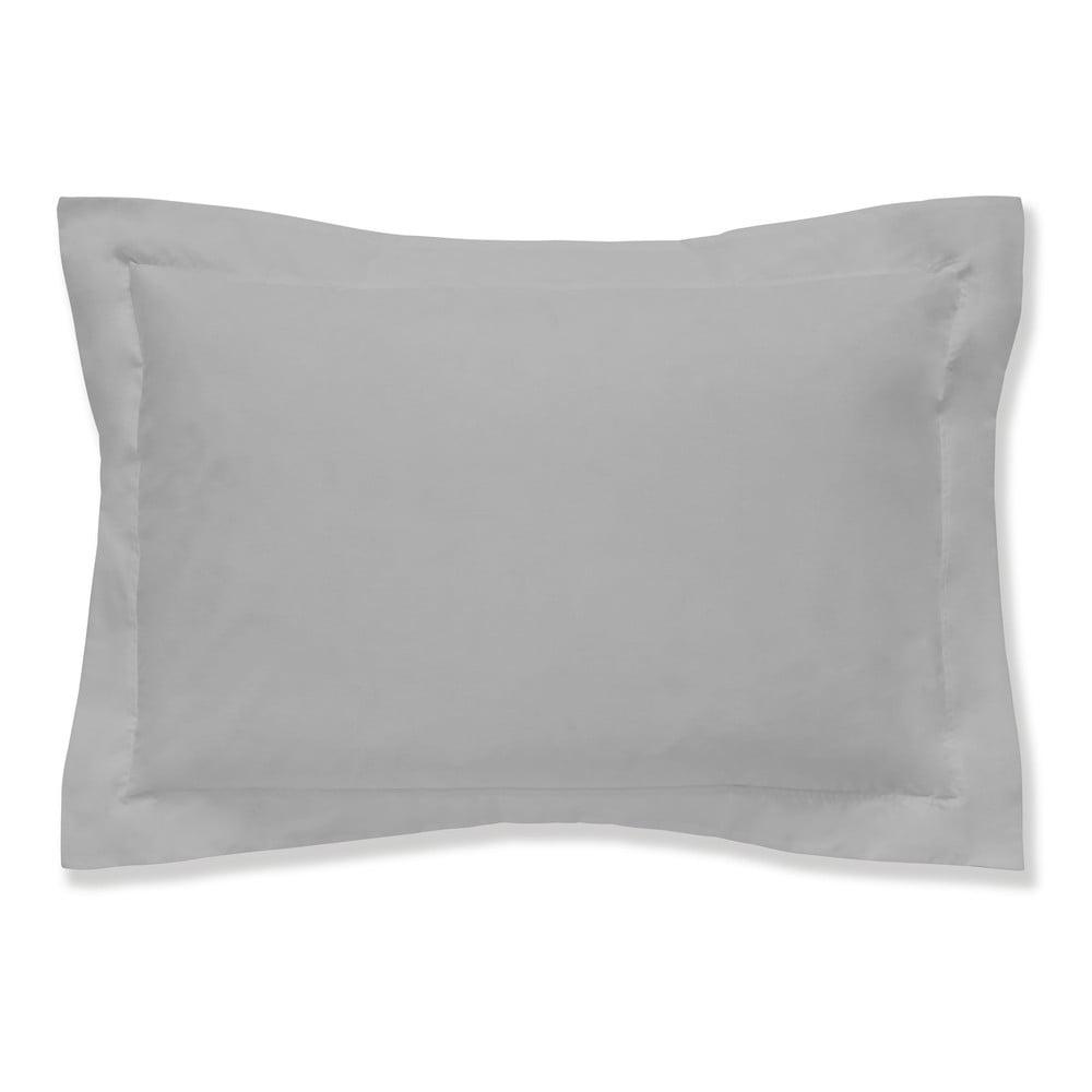 Šedý povlak na polštář z egyptské bavlny Bianca Oxford, 50 x 75 cm