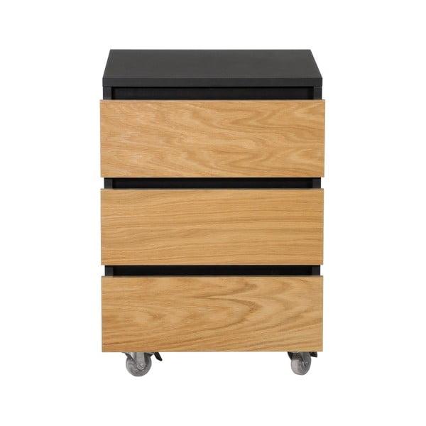 Světle hnědá skříňka na kolečkách se třemi šuplíky We47 Renfrew Pro