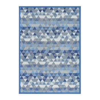 Covor reversibil Narma Luke Blue, 100 x 160 cm, albastru poza