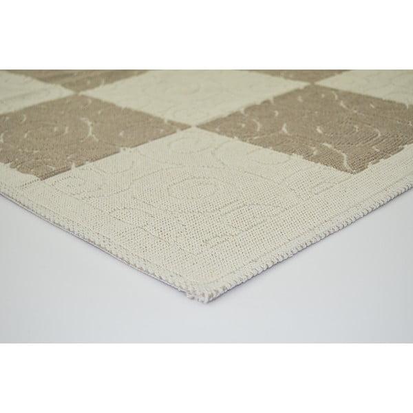 Béžový odolný koberec Vitaus Patchwork, 120x180cm