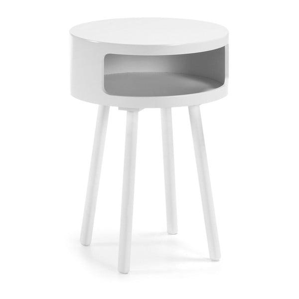 Bruk fehér kisasztal tárolóhellyel - La Forma