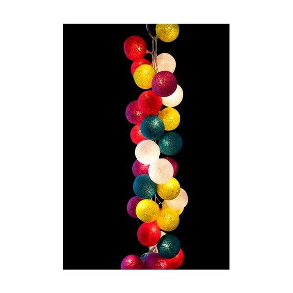 Světelný řetěz Rainbow Drops, 35 ks světýlek