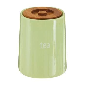 Recipient pentru ceai cu capac din lemn de bambus Premier Housewares Fletcher, 800 ml, verde de la Premier Housewares