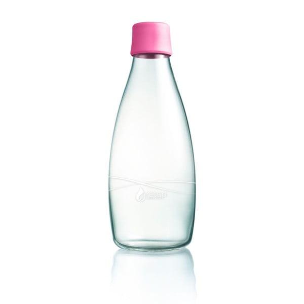 Svetloružová sklenená fľaša ReTap s doživotnou zárukou, 800 ml