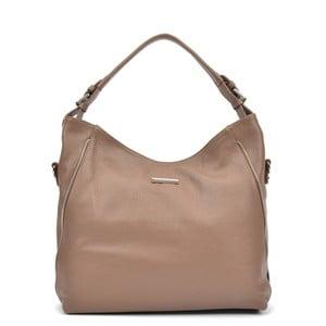 Béžová kožená kabelka Mangotti Cassie