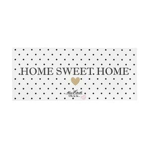 Kovová dekorativní cedule Miss Étoile Home Sweet Home, 13 x 30 cm