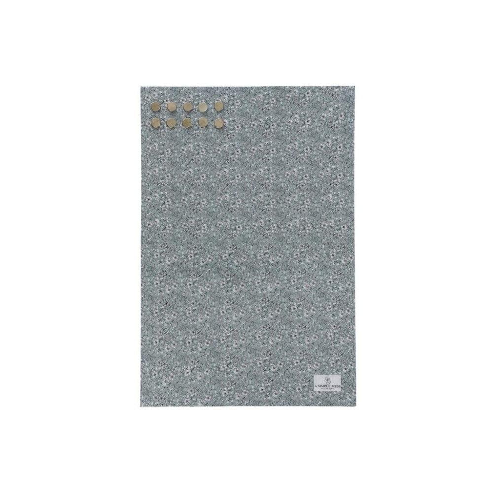 Kovová tabule na vzkazy A Simple Mess Paule Hedge Green, 40x60cm A simple Mess
