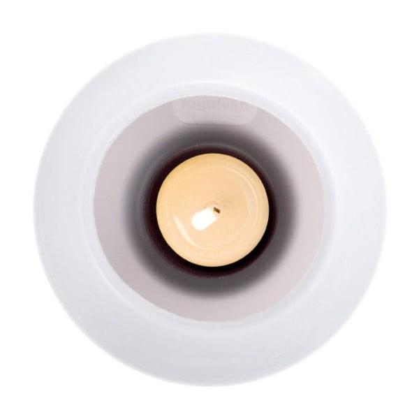 Silikonový svícen, bílý