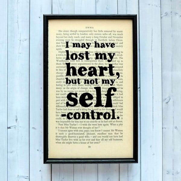 Plakát v dřevěném rámu Emma Self Control