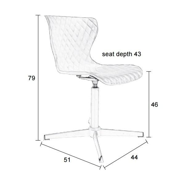 Bílá židle Crow Metal