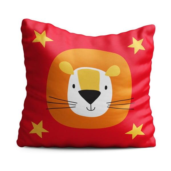 Dětský polštář OYO Kids Lion Adventures, 40 x 40 cm