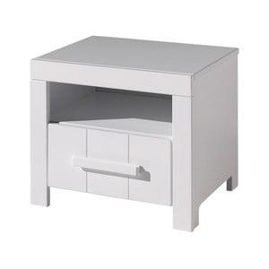 Bílý dětský noční stolek Vipack Erik