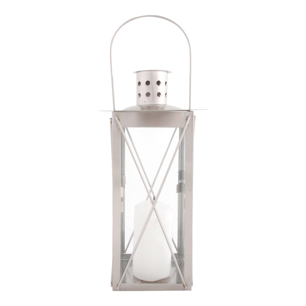 Nerezová lucerna Esschert Design Romance, výška26cm