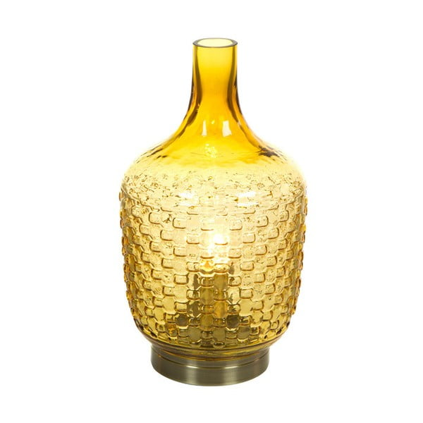 Żółta lampa stołowa Santiago Pons Don