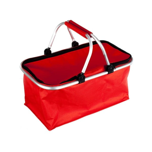 Přenosný nákupní košík Vetro, červený