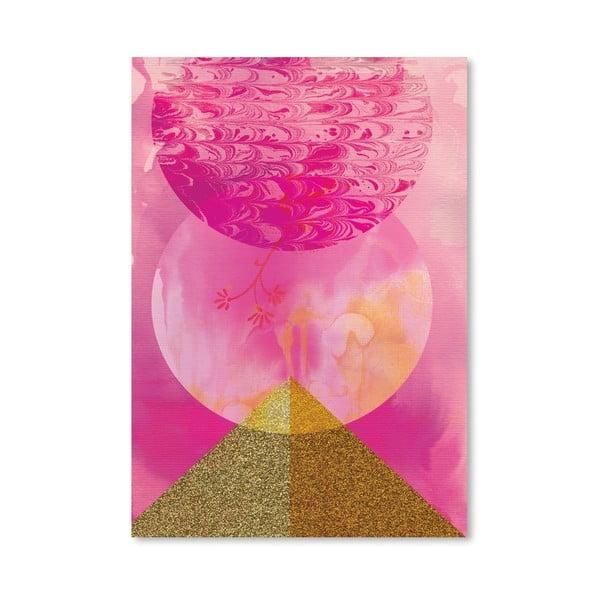 Plakát Golden Pink, 30x42 cm