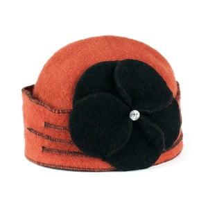 Cihlově oranžová dámská vlněná čepice Art of Polo Gina