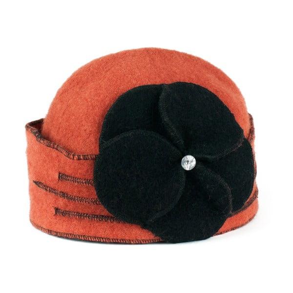 Căciulă din lână Art of Polo Gina, portocaliu caramel