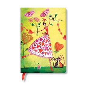Zápisník s tvrdou vazbou Paperblanks Valentina, 12x17cm
