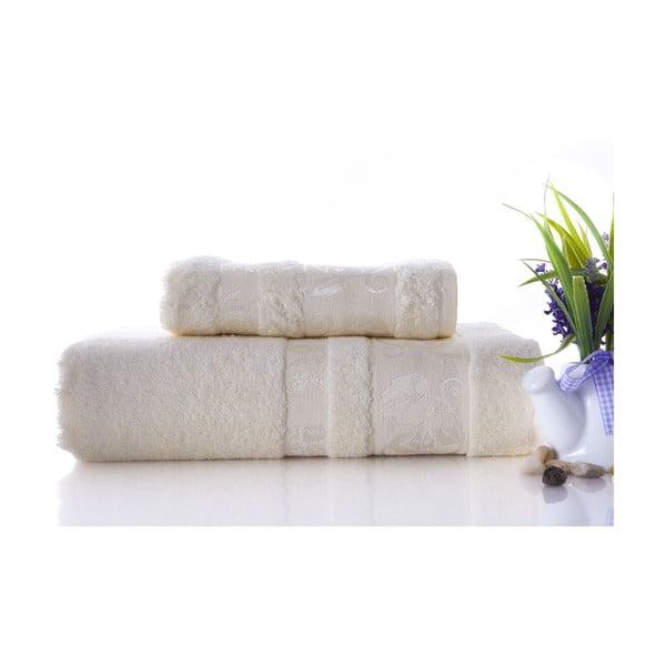 Set dvou ručníků Bamboo Cream, 70x140 a 50x90 cm