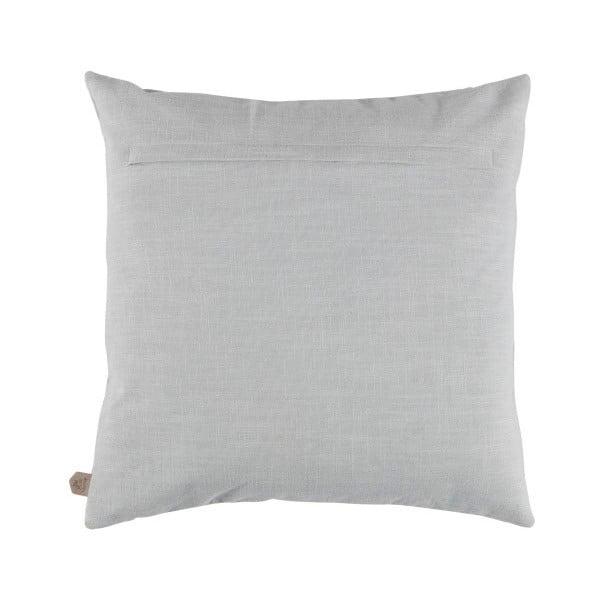 Sametový světle šedý polštář De Eekhoorn Gossip, 50x50cm