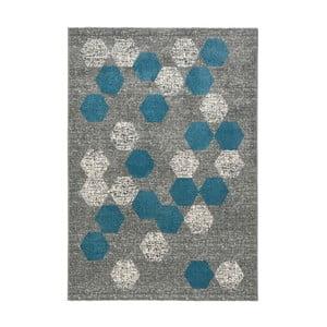 Modrošedý koberec DECO CARPET Dotty, 160 x 230 cm