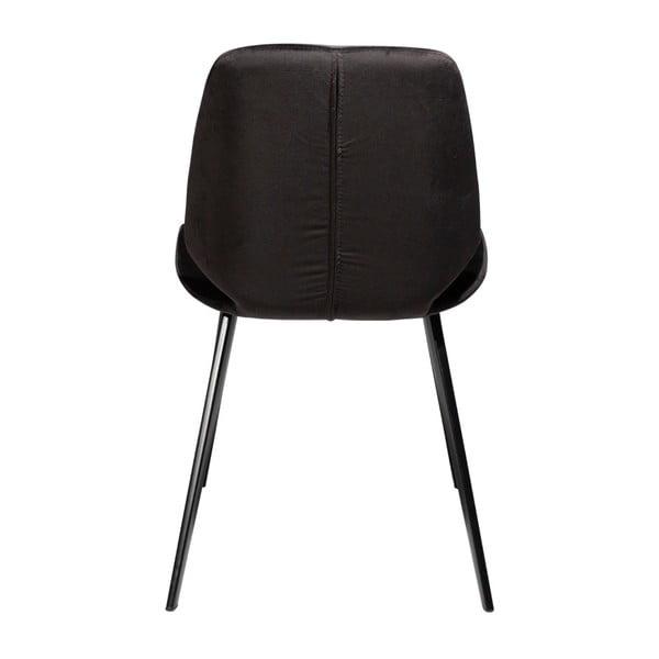 Černá jídelní židle DAN–FORM Denmark Swing Velvet