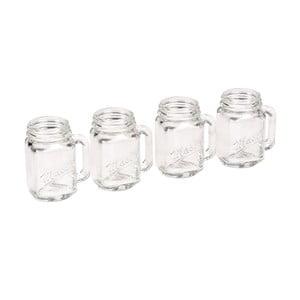 Set 4 păhărele pentru tărie Rex London Mason Jar