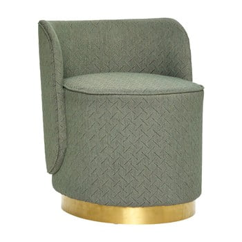 Puf Hübsch Pouf Brass Ring, înălțime 62 cm, verde imagine