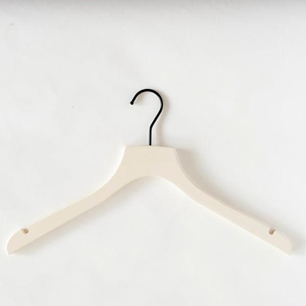 Krémové dřevěné ramínko na kabáty Compactor Hanger