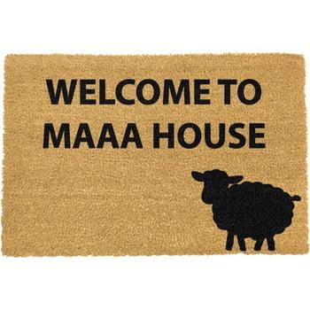 Covoraș intrare din fibre de cocos Artsy Doormats Welcome to Maaa House, 40 x 60 cm