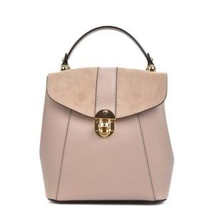 Růžový kožený batoh Isabella Rhea Carmit