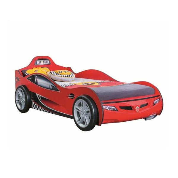 Race Cup Carbed Red autó formájú piros gyerekágy, 90 x 190 cm