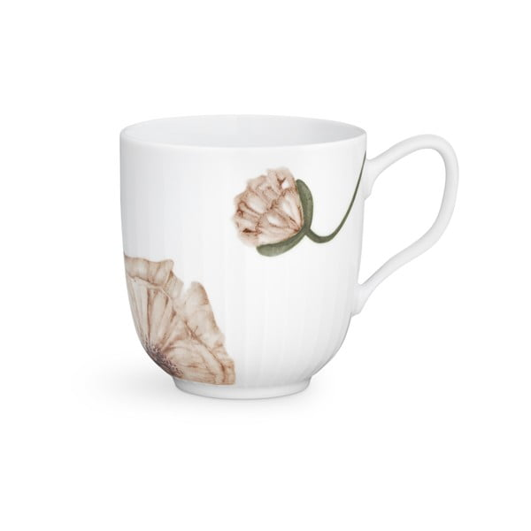 Bílý porcelánový hrnek Kähler Design Hammershøi Poppy, 330ml