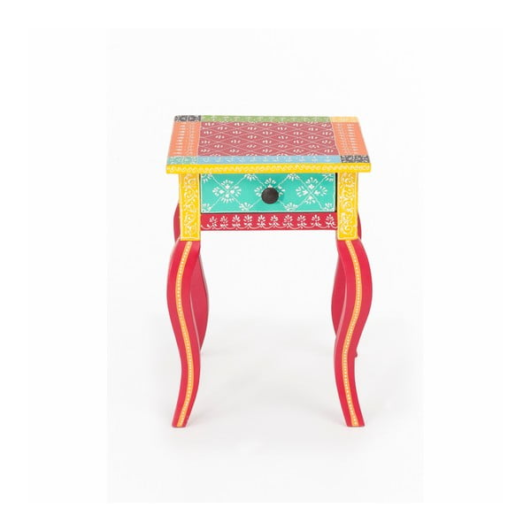 Noptieră din lemn de salcâm WOOX LIVING India Colore