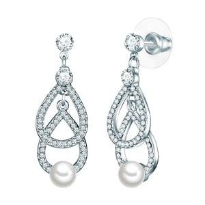 Náušnice s bílou perlou Perldesse Boi, ⌀0,6cm
