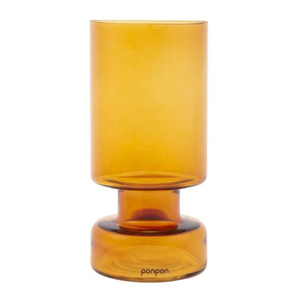 Váza/svícen Delhi 31 cm, ambra