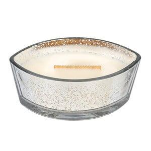 Svíčka WoodWick v dekorativní váze White Snow, 50 hodin
