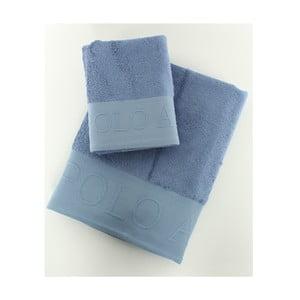 Sada 2 osušek US Polo Plattsburg Blue, 50x90 a 90x150 cm