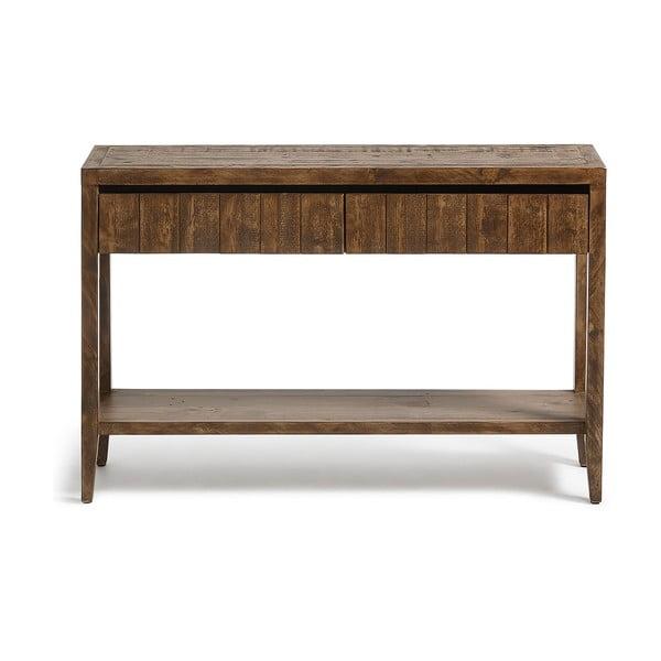 Hnědý konzolový stolek La Forma Woody
