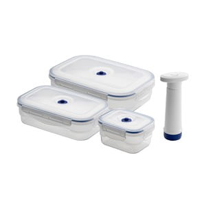 Set 3 boxů na potraviny a vakuové pumpy Compactor Food Saver
