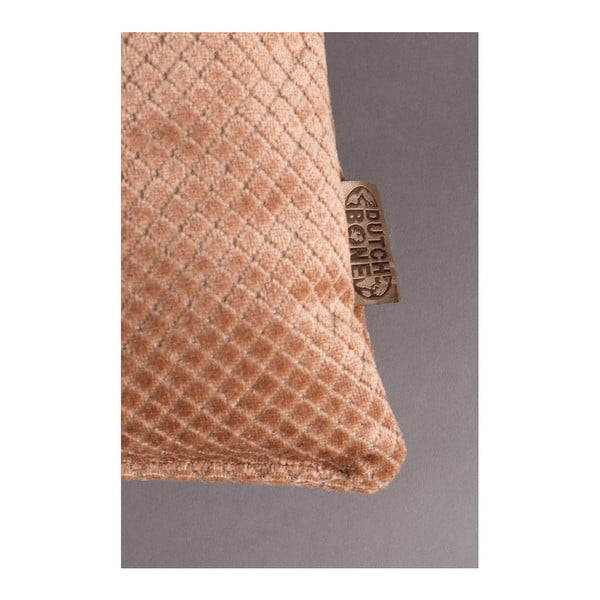 Růžový polštář Dutchbone Spencer, 60x30cm