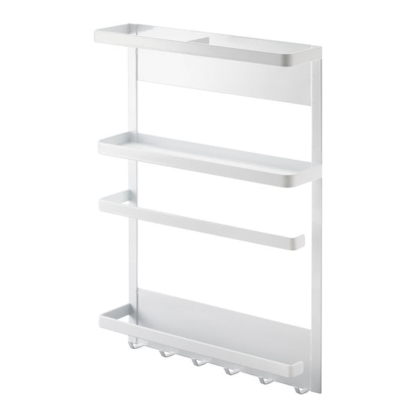 Suport magnetic YAMAZAKI Tower Magnetic Side Rack, mare, alb
