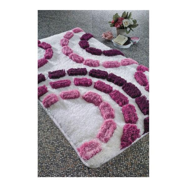Koupelnová předložka Arinna Cherry Bubble, 70x120 cm
