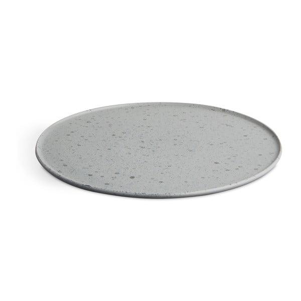 Šedý kameninový talíř Kähler Design Ombria, ⌀ 27 cm