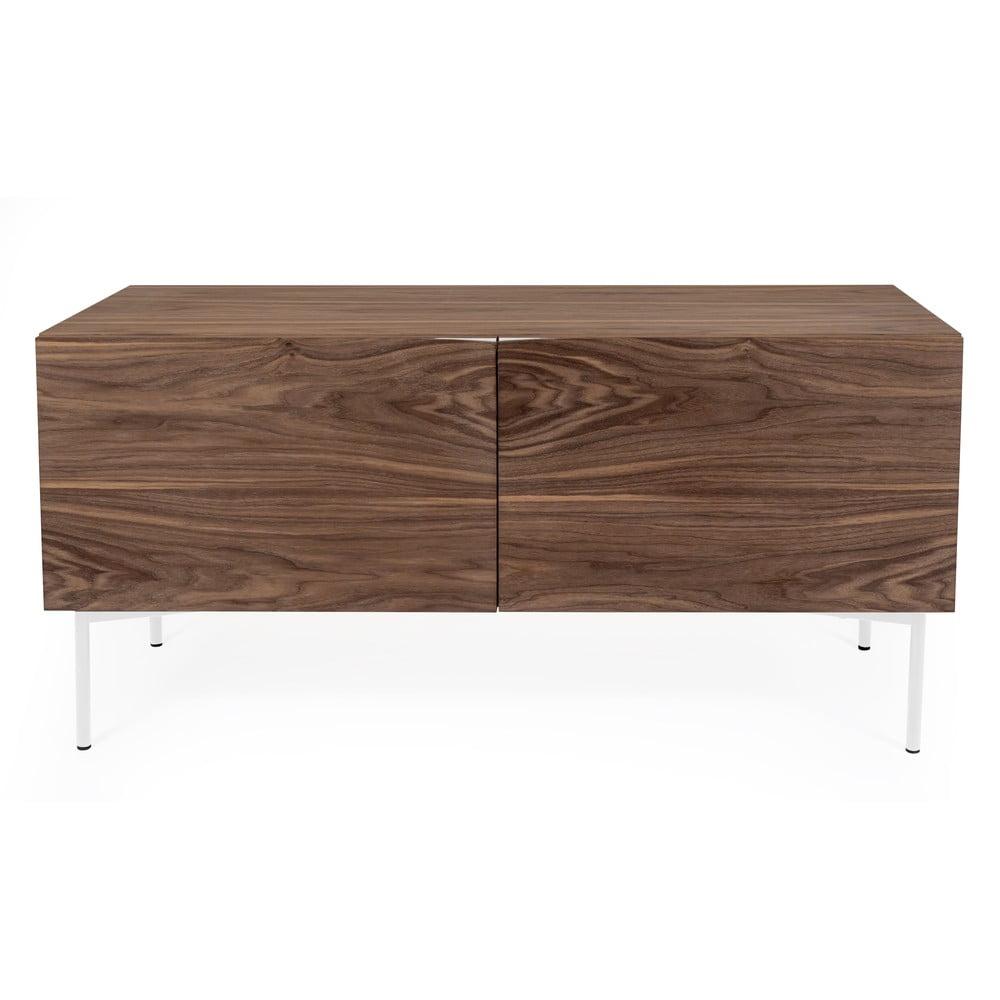 Hnědá komoda v dekoru ořechového dřeva Woodman Flop, 65 x 120 cm