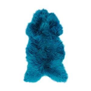 Tmavě modrá kožešina z ovčí kožešina Arctic Fur Lina, 100 x 60 cm