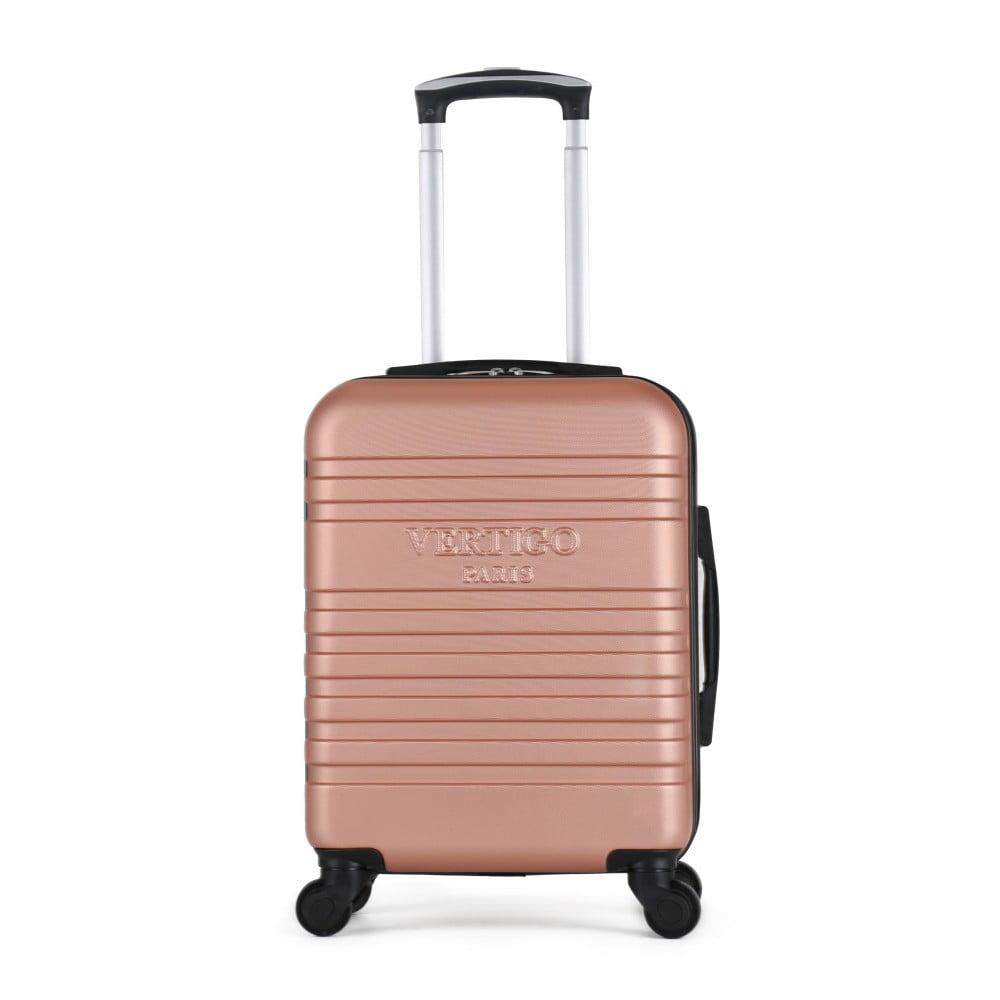 Růžový cestovní kufr na kolečkách VERTIGO Valises Cabine Cadenas Muela