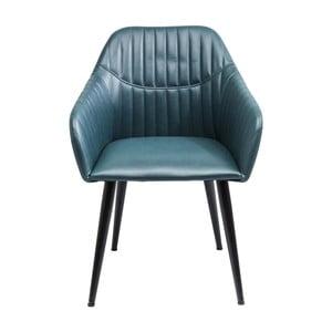 Modrá židle Kare Design Armlehnstuhl