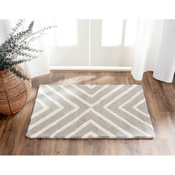 Vlněný koberec Prita 121x182 cm, šedý